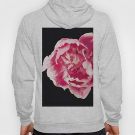 Pink Tulip Flower On A Black Background #decor #society6 #homedecor Hoody