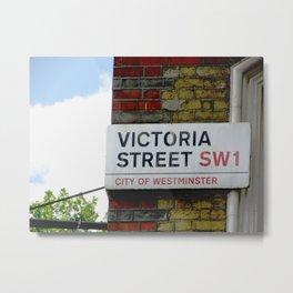 On Victoria Street, London Metal Print