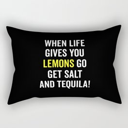 Life Gives You Lemons Funny Quote Rectangular Pillow