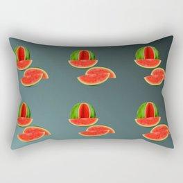 Watercolor Watermelon Rectangular Pillow