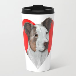 Pit Bull Heart Travel Mug