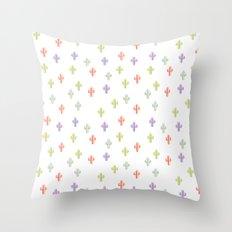 Catctus Multicolor Throw Pillow
