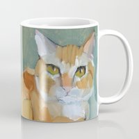 garfield Mugs featuring Garfield by Suzanna Schlemm