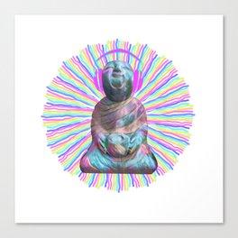 Electric Budha Canvas Print