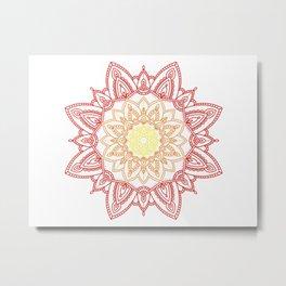 Warm Mandala Metal Print