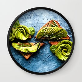 Avocado Foodie Art Wall Clock