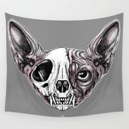 Shynx Half Skull Wall Tapestry