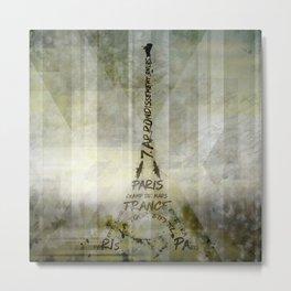 Digital-Art PARIS Eiffel Tower | Geometric Mix No.1 Metal Print