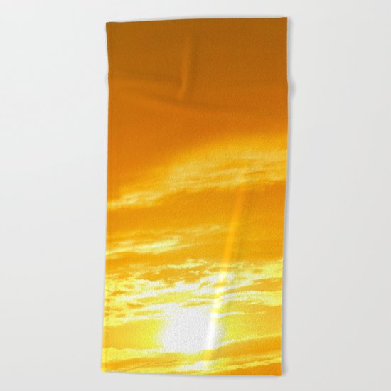 Μy Νeighborhood Sunset Beach Towel