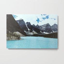 Lake Moraine landscape Metal Print