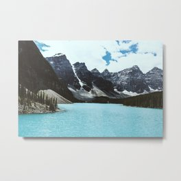 Lake Moraine landscape Metal Print