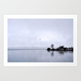 Early Morning on the River Art Print