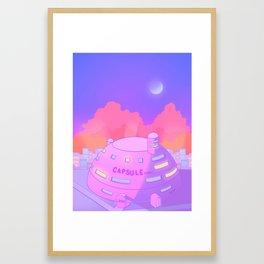 Pastel Capsule Corp Framed Art Print