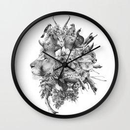 Kingdom of Monarchs (Black and White Version) Wall Clock