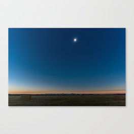 Solar Eclipse Totality Over Grand Tetons Canvas Print