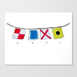 USVI nautical flags Canvas Print