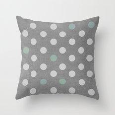 Concrete & PolkaDots Throw Pillow
