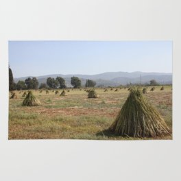 Sesame Crop and Harvest Rug