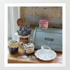 A day for baking Art Print
