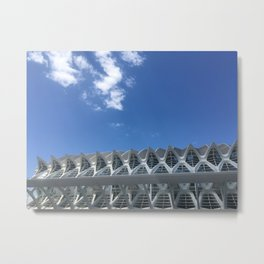 Museum of Arts and Sciences Valencia | Valencia Spain travel photography |  Colored photo art print  Metal Print