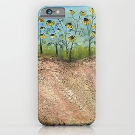 African American Masterpiece 'Sunflowers on the Graves' by Irene Clark iPhone Case