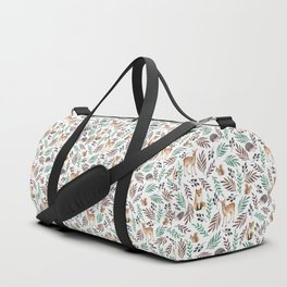 Cute forest. Watercolor Duffle Bag