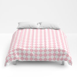 Small Diamonds - White and Pink Comforters