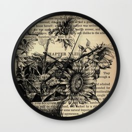 Pride & Prejudice, Chapter XLIII: Sunflowers Wall Clock