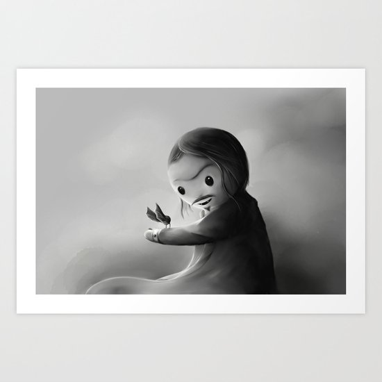 With fangs and love Art Print