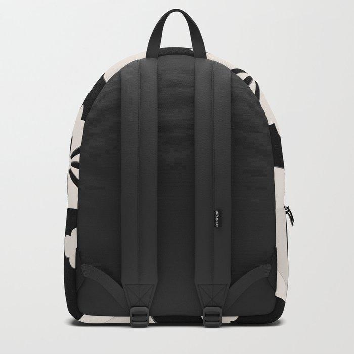 Black White Tiles Backpack