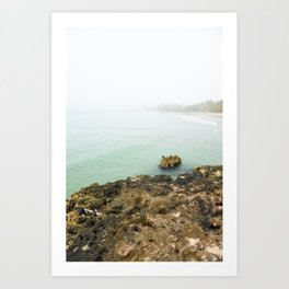 Bay of Pigs Playa Larga Cuba Caribbean Sea Ocean Beach Geology Limestone Tropical Island Fog Mist Ne Art Print