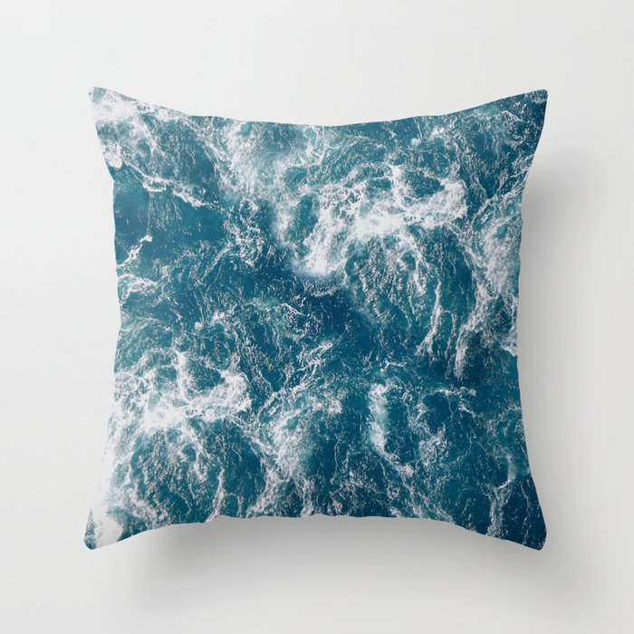 Sea water Throw Pillow