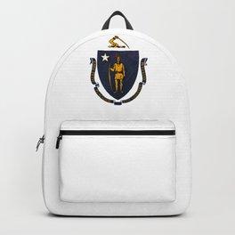Massachusetts state flag - vintage look Backpack