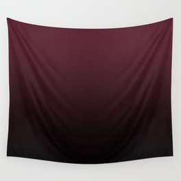 Burgundy Wine Ombre Gradient Wall Tapestry