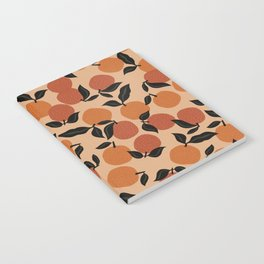 Seamless Citrus Pattern / Oranges Notebook