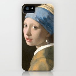 Johannes Vermeer - Girl with the pearl earring (1665) iPhone Case