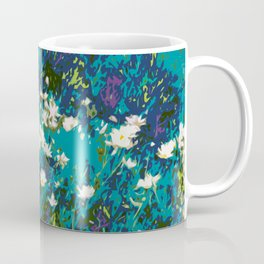 Daisies smothered in Teal Coffee Mug