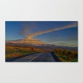 Etna sunset Canvas Print