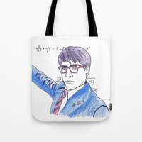rushmore Tote Bags featuring She's My Rushmore by nicoleskine