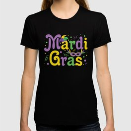 Mardi Gras Festive Colorful New Orleans Style T-shirt