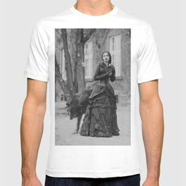 The Girl and the Big Bad Wolf black and white photograph T-shirt