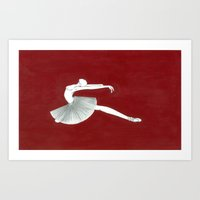 ballerina Art Prints featuring Ballerina by Nadina Embrey - Artist / Illustrator