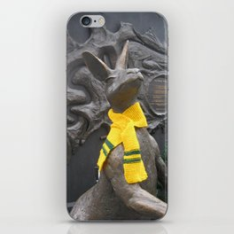 Aussie scarf on roo in King George Square iPhone Skin