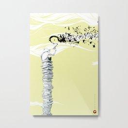 "Glue Network Print Series ""Education & Arts"" Metal Print"