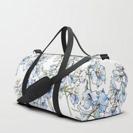 Blue Delphinium Flowers Duffle Bag