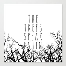 THE TREES SPEAK LATIN QUOTE BY MAGGIE STIEFVATER  Canvas Print