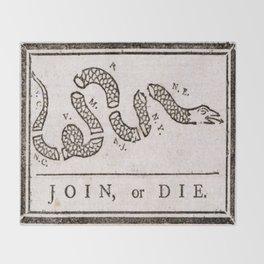Join or Die Throw Blanket