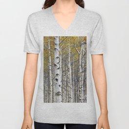 Birch Trees in Autumn Unisex V-Neck