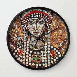 Byzantine Empress Saint Theodora of the Roman Empire Wall Clock