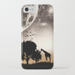 Nature silhouettes iPhone Case